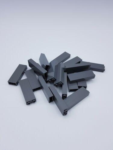 LEGO LOT 20 X BRICK 1X2X5 DARK STONE GREY REF 2454 245426 *NEUF*