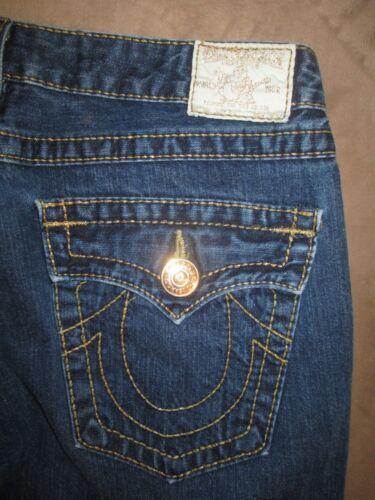 Pocket scuro in Big denim Jeans Flare da Joey True blu 7 30 taglia donna Religion HAqpwf4