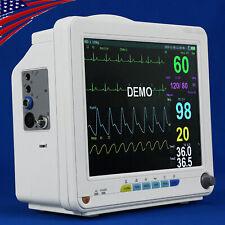 New Veterinary Vet Icu Patient Monitor 6 Parameter Ecgnibpspo2resptemppr Ce
