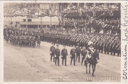 UK London Edward VII, Coronation 1902 Lord Roberts & Beefeaters