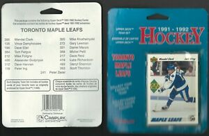 1991-92-UD-TORONTO-MAPLE-LEAFS-17-CARD-CELLO-PACK-WITH-DARRYL-SHANNON-ROOKIE