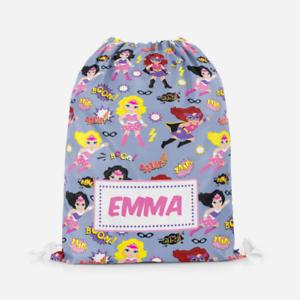 Personalised-Girls-Superhero-Kids-Swimming-School-Childrens-Drawstring-Bag