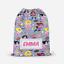 Personalised-Girls-Superhero-Kids-Swimming-School-Childrens-Drawstring-Bag thumbnail 1