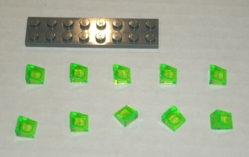 6173739 Brick 35338 LEGO NEW 1x1 Transparent Bright Green Slope 31° 10x