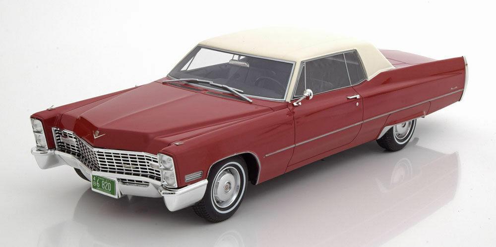 1967 Cadillac Deville Coupé Rosso 1 18 Scala da Bos modellos