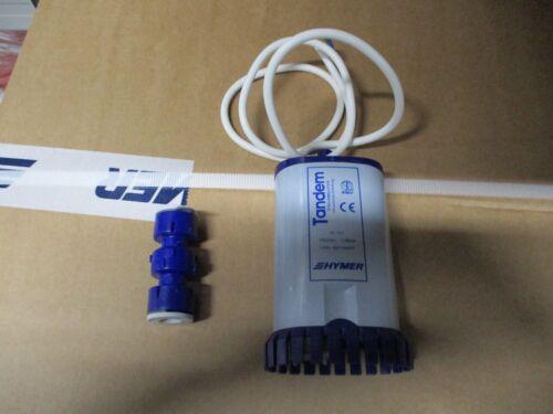 Doppel Tandem Tauchpumpe Wasserpumpe 19l/Min 1,4 bar mit Uniquick Verbindungs Bootsport-Teile Bootsport-Artikel