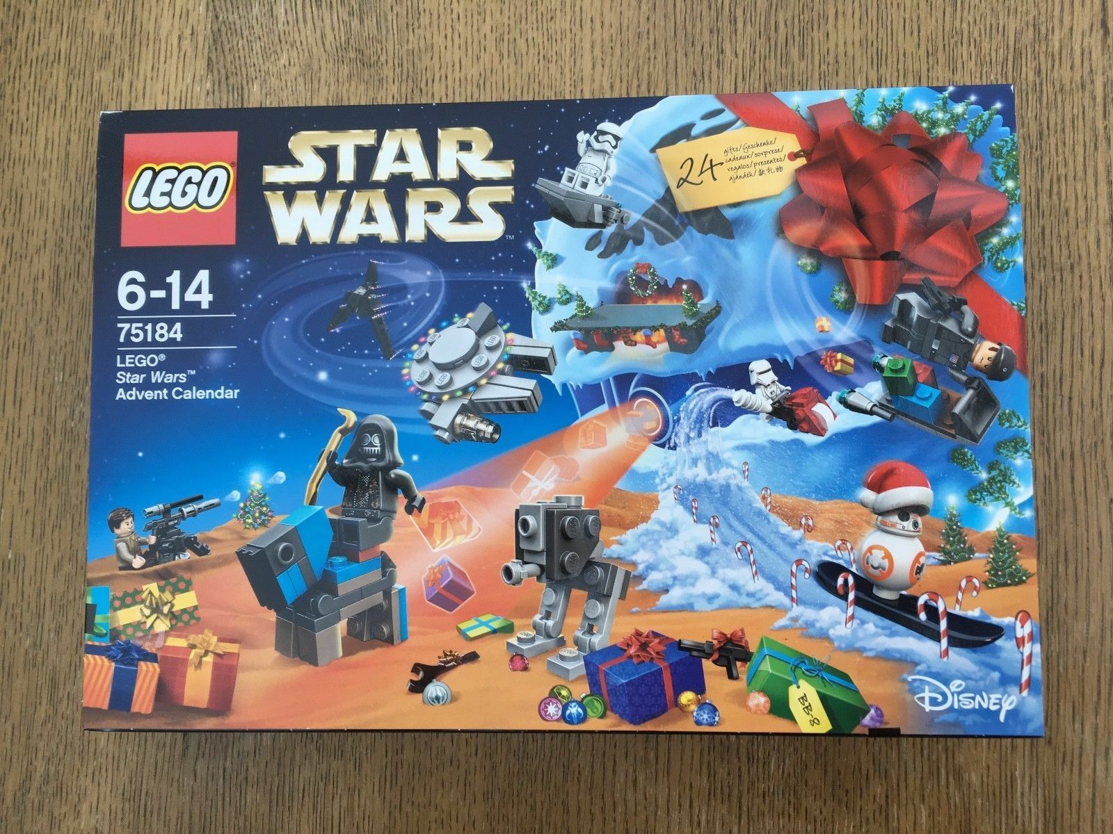 ADVENT CALENDER LEGO STAR WARS 75184 - 2017 - BRAND NEW AND SEALED xmas