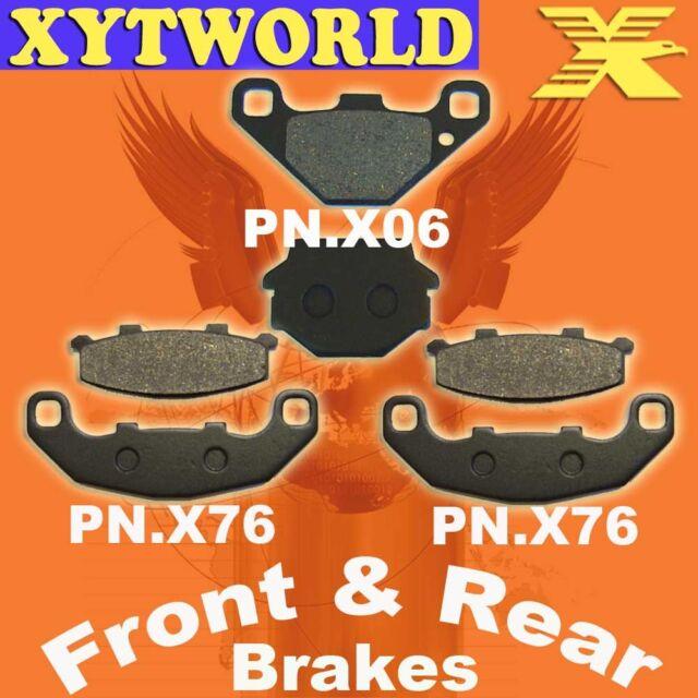 FRONT REAR Brake Pads KAWASAKI ZXR 250 R (ZX 250 D1) 1991