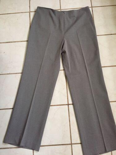 grigio 12 dritta color con sul Sz Gianni cerniera a Pantaloni rayon Nuovo gamba davanti Fabrizio XwxBC06qx