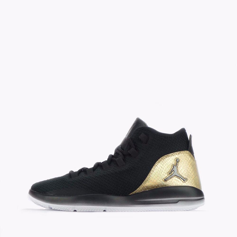 Nike Jordan Reveal Q54 Homme Baskets Noir/Doré Métallisé-