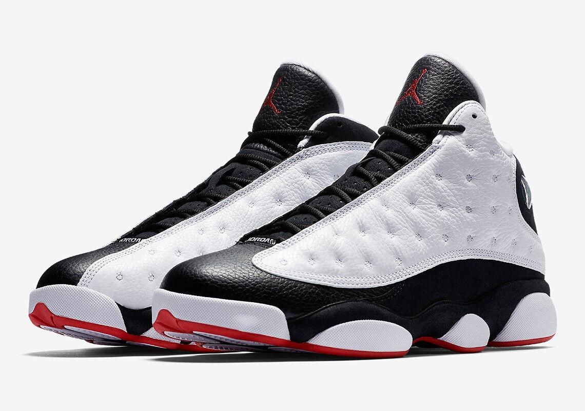 2018 Air Jordan Retro 13 XIII He Got Game Black White Red 414571-104 Size 8-13
