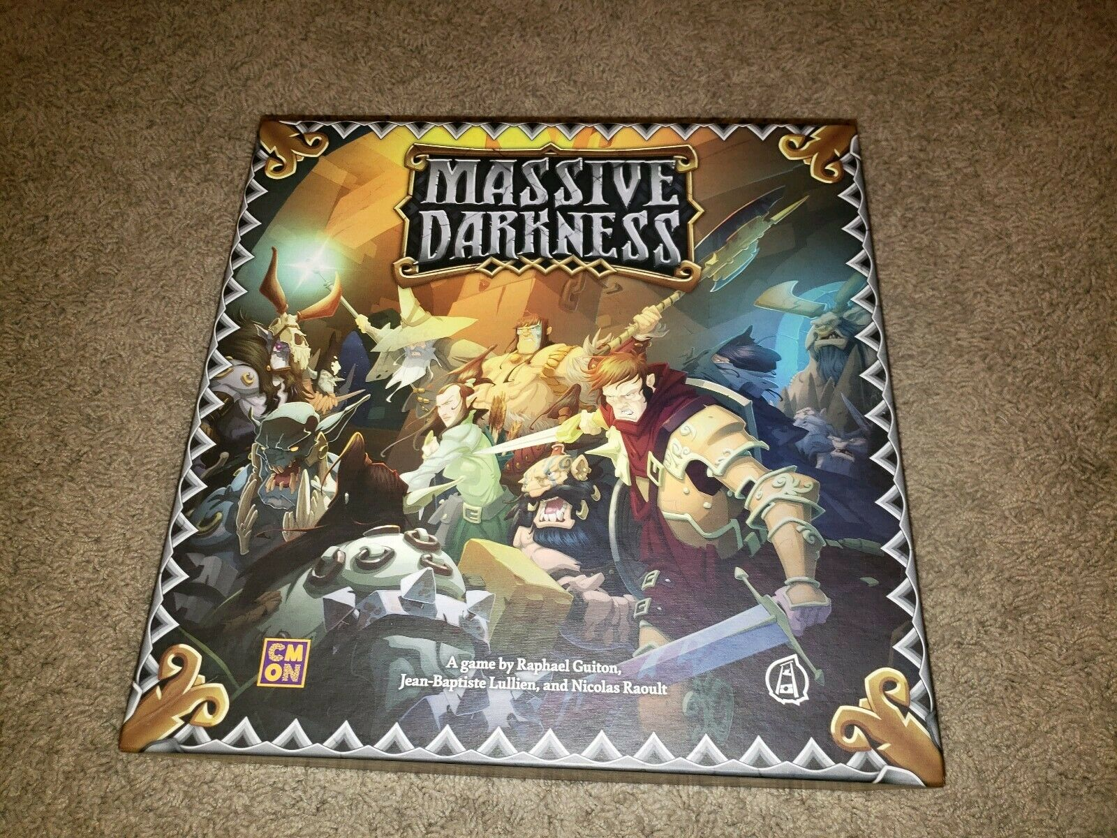Massive Darkness  Base Core Board Game - CMON used with replacement cards