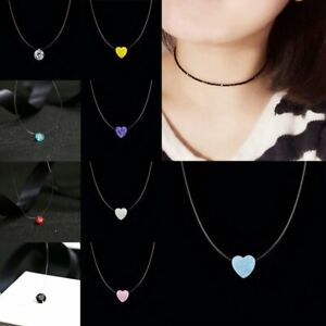 Fashion-Crystal-Necklace-Invisible-Line-Zircon-Clavicle-Chain-Women-Accessories