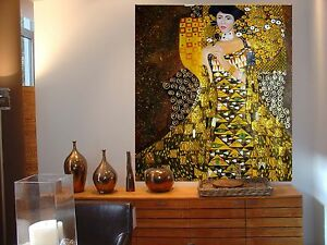 Lieblich Image Is Loading  XXL Gustav Klimt Jugendstil Leinwand 105x90x5 Canvas Gemalde
