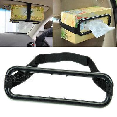 Auto Car Sun Visor Tissue Box Holder Paper Napkin Seat Back Bracket Accessories