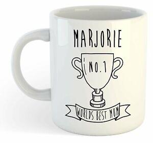 Marjorie - Monde Meilleure Maman Trophy Tasse - Pour Cadeau De Fête Des Mères , Ho04dlkb-07232744-977501934