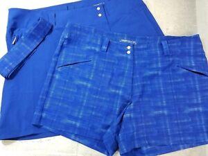 NIKE-Convert-Golf-Skort-Convertible-Skirt-Shorts-Blue-Belt-Dri-Fit-Size-16