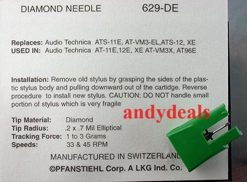 200-DEC NEW IN BOX NEEDLE FOR AUDIO TECHNICA ATS11E,AT11E,AT12E,AT96E