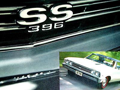 1967 CHEVY CHEVELLE SS ORIGINAL AD-poster/print/396/427/V8/fender/grille emblem/