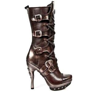 Dettagli su New Rock Boots Donna Punk Gothic Stivali Style PUNK001 C1 Nero