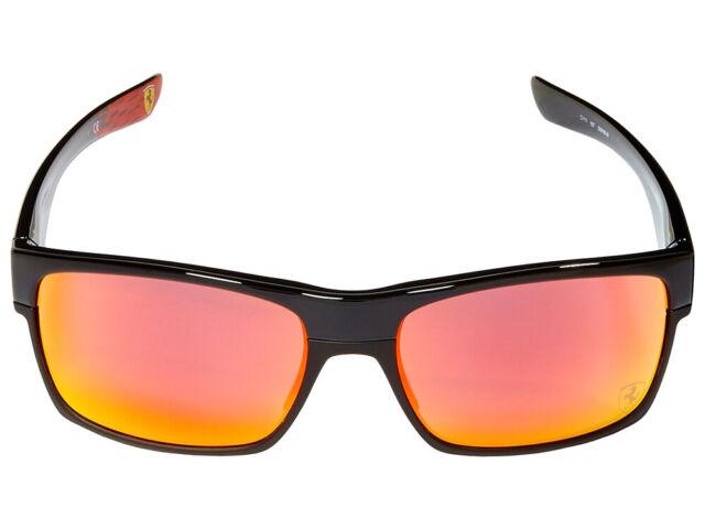 Oakley Twoface Scuderia Ferrari Sunglasses Oo9189 3660 Black Ruby Iridium Ebay