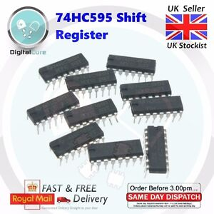 Arduino 10x SN74HC595N 8 bit Shift Register SN74HC595 74595 74HC595 DIP16