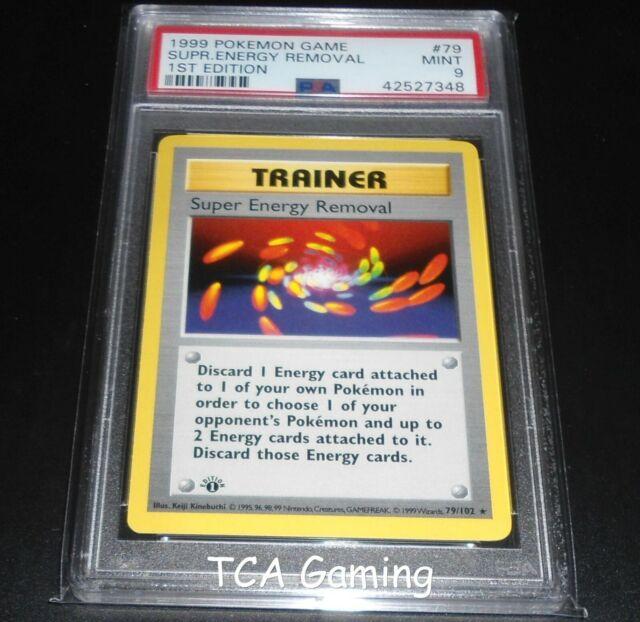 PSA 9 MINT Super Energy Removal 79/102 1ST EDITION Base Set Pokemon Card