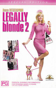 LEGALLY-BLONDE-Reese-Witherspoon-VIDEO-VHS-Pal-SirH70