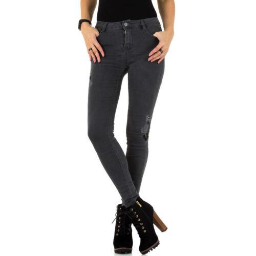 Damen Mozzaar Bestickte Skinny Jeans 6989 Ital-design