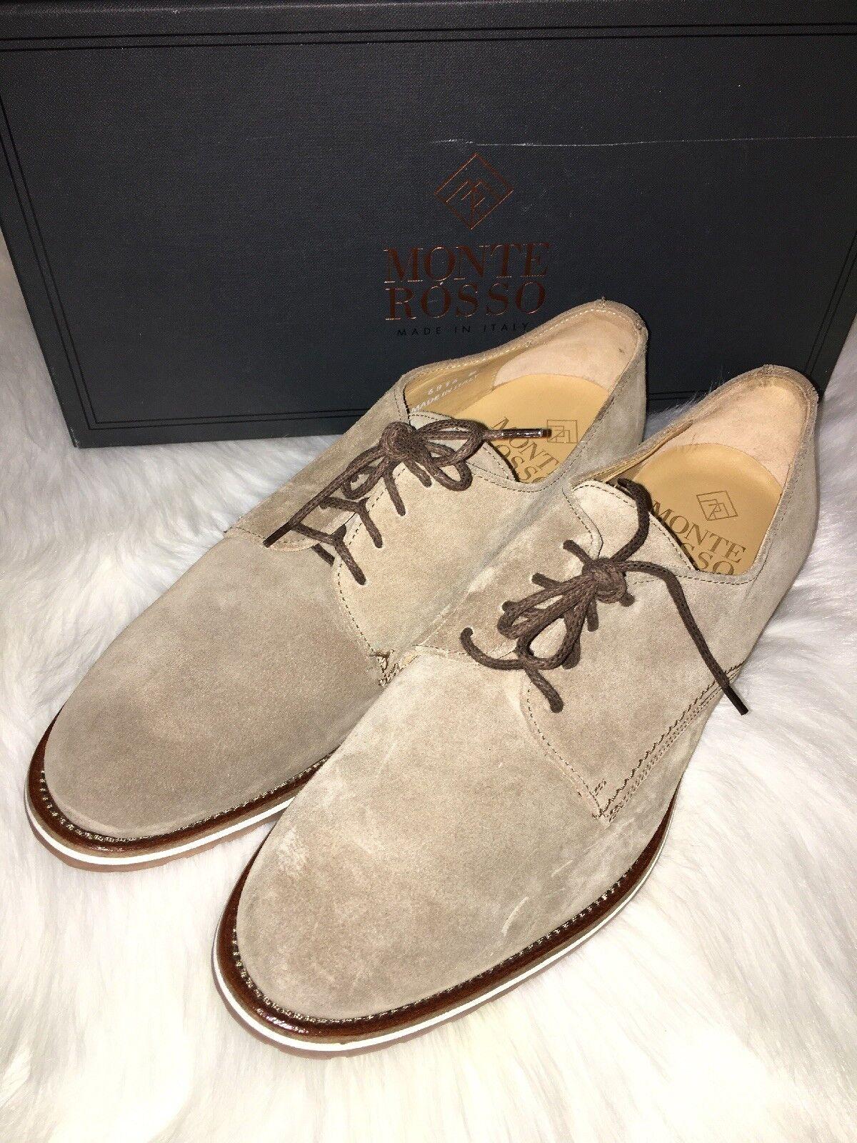 Monte rouge Grado beige daim Oxford hommes chaussures