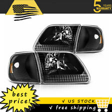 For 1997 2003 Ford F150 Headlights Headlamps Leftright Lights Lamp Assembly Fits 1997 Ford F 150