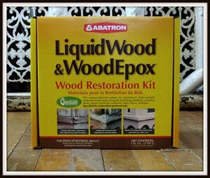 Abatron Liquidwood 174 Amp Woodepox 174 Wood Restoration Kit 1