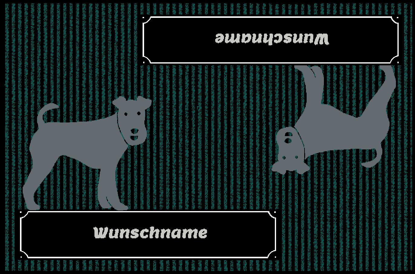 Fußmatte mit Namen Napfunterlage Hundematte  90x60 cm  Design 27180502