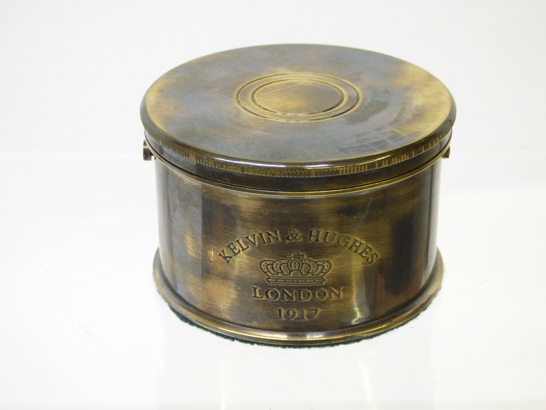 Kompass Tisch - Kompaß K&H, Messing Gehäuse antik, kardanische Aufhängung Aufhängung kardanische d89458