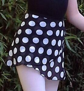 3455dfb4b Image is loading Ballet-wrap-over-ballet-skirt-georgette -lightweight-elastic-