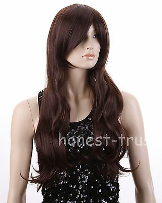 2014 Fashion Women's Long Wavy Curly hair Wig Xmas Gift Cosplay Party Wigs +Cap