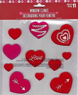 Love Be Mine  Valentine/'s Day  Reusable  Window Gel Clings  NIP