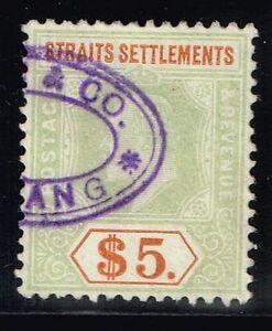 Straits Settlement SG# 138a, Used. Lot 03292015
