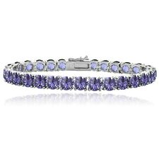 Violet Swarovski Elements Tennis Bracelet