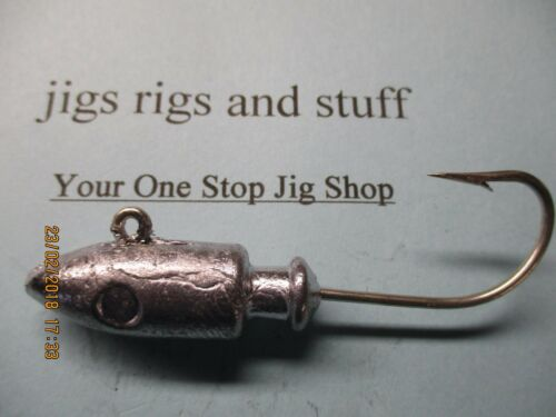 spirepoint jig heads lead heads   Un-painted raw  1//2oz to 20oz tinned hooks