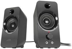 SPEEDLINK DAROC PC Lautsprecher 2x Klinnkestecker Boxen Stereo Speaker für PC