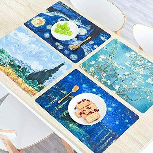 Plastic Placemats for Dining Table Mouse Pads Sets Easy Clean//Heat Resistant
