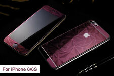 3D Design Designer Cut Tempered Glass Screen Protector for iPhone 6/6S-Rose Red