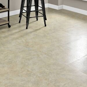 Vinyl Floor Tiles Self Adhesive Peel And Stick Large Beige Stone ...