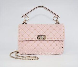 b39ebc7959 Valentino Garavani Women's Rockstud Spike Velvet Shoulder Bag, Pink ...