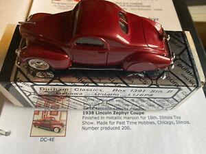 Durham-Classics-Dc-4E-Lincoln-Zephyr-Illinois-espectaculo-De-Juguete