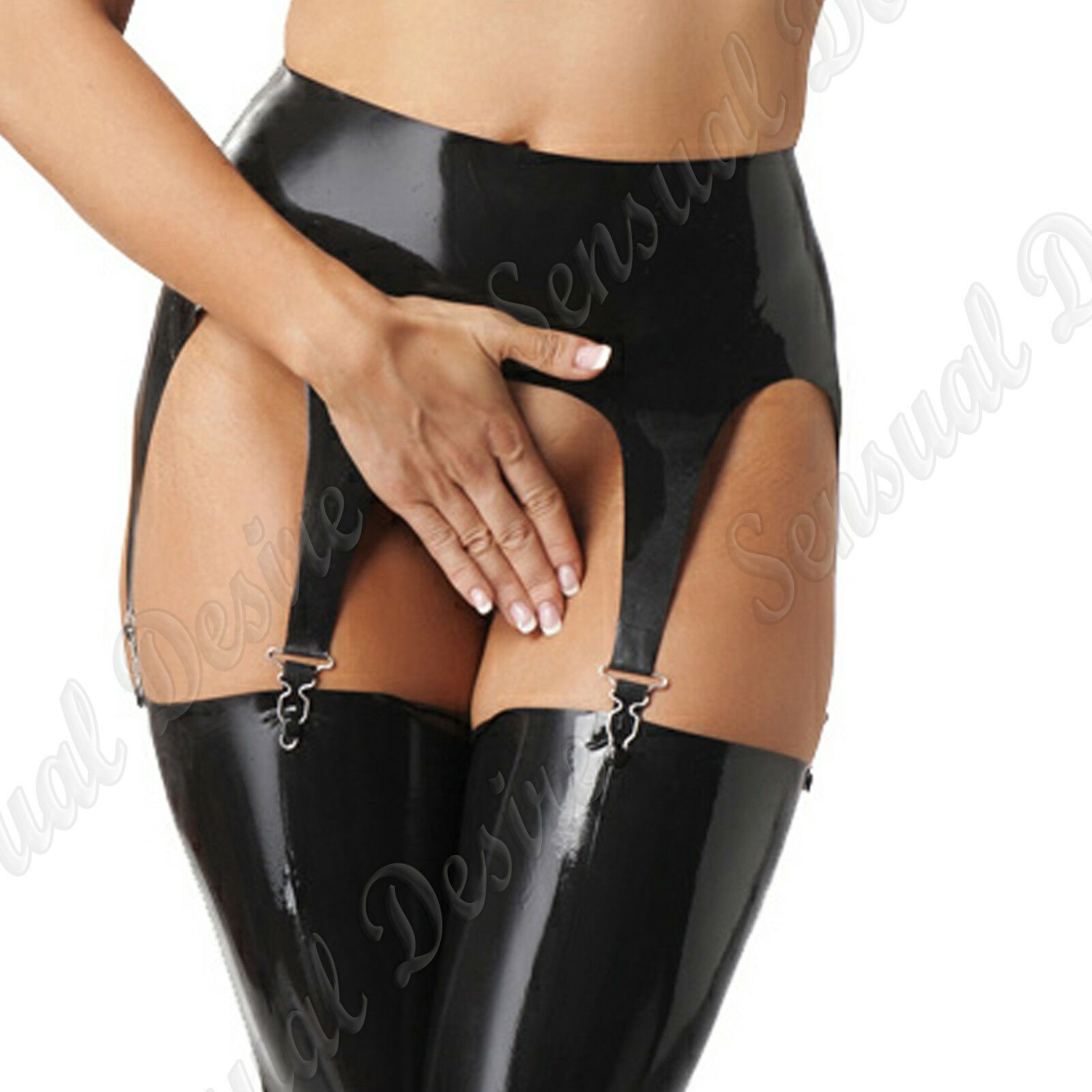 Latex Rubber Secrets Suspender Belt  Fun Eredic Seductive Club Wear Role Play