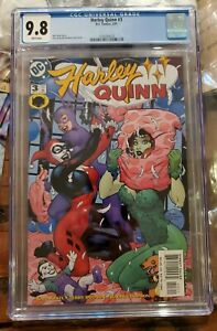 Harley-Quinn-3-2001-CGC-9-8-Classic-Pillow-Fight-Cover-Gotham-City-Sirens