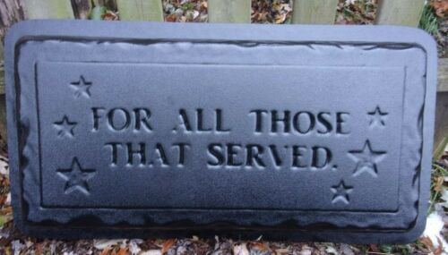 "Military Service bench top mold 3//16th/"" plastic  /""For all those that served/"" 31/"""
