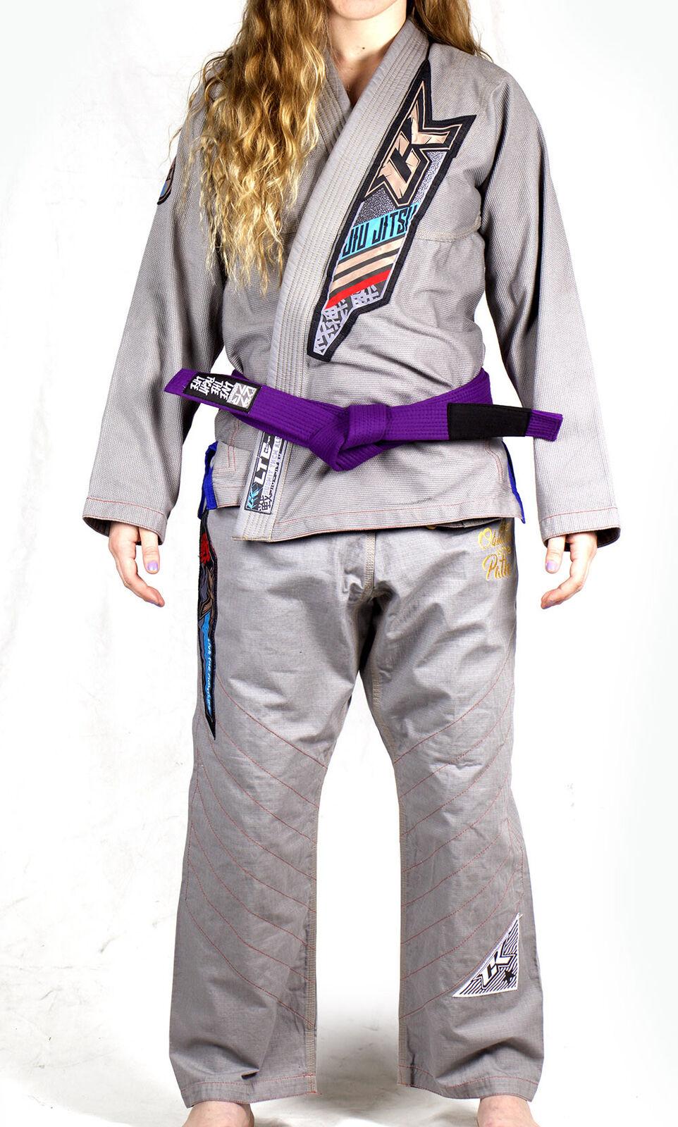 Contract Killer Donna Uccidere Bjj Jiu Jitsu Gi  Grigio